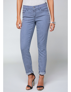 Conductor Stripe Jeans by Bebe