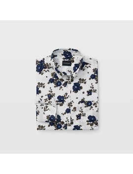 Slim Blooming Floral Shirt by Club Monaco