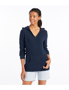 Midweight Cotton Slub Hooded Pullover by L.L.Bean
