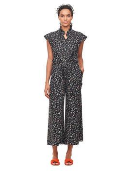 Vine Print Silk Jumpsuit by Rebecca Taylor