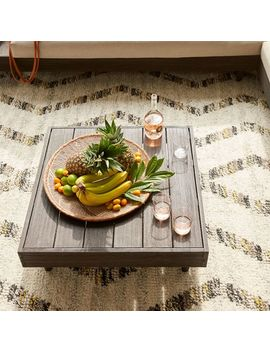 Portside Outdoor Low Coffee Table   Weathered Gray by West Elm