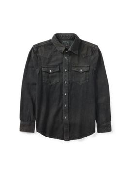 Cotton Denim Western Shirt by Ralph Lauren