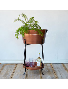 Copper Beverage Tub & Stand by Terrain