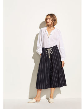 Skinny Stripe Side Slit Culotte by Vince