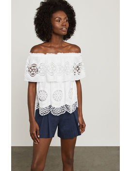Off The Shoulder Eyelet Top by Bcbgmaxazria