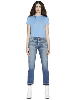 Cindy Classic Crewneck Cropped Tee by Alice And Olivia