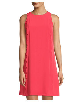 Scallop Edge Crepe Dress by Tahari Asl