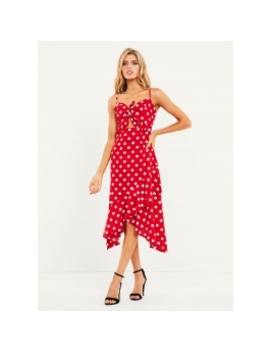 Roberta Dress   Red Polka Dot by Peppermayo
