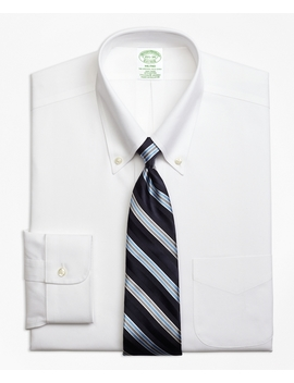 Stretch Milano Slim Fit Dress Shirt, Non Iron Button Down Collar by Brooks Brothers