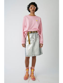 A Line Denim Skirt Silver / Blue by Acne Studios