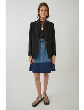 A Line Denim Skirt Indigo Blue by Acne Studios