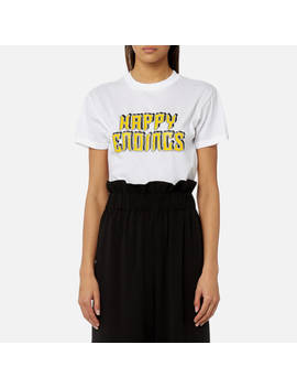 Ganni Women's Harway Happy Endings T Shirt   White by Ganni