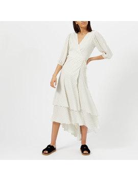 Ganni Women's Wilkie Seersucker Dress   Vanilla Ice by Ganni