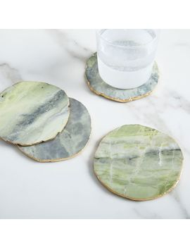 Onyx Marble Coasters (Set Of 4)   Chartreuse by West Elm