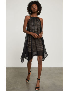 Asymmetrical Mesh Trapeze Dress by Bcbgmaxazria