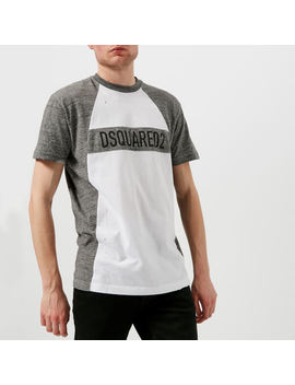 Dsquared2 Men's Raglan Fit T Shirt   White by Dsquared2