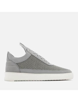 Filling Pieces Men's Ripple Mesh Low Top Trainers   Light Grey by Filling Pieces