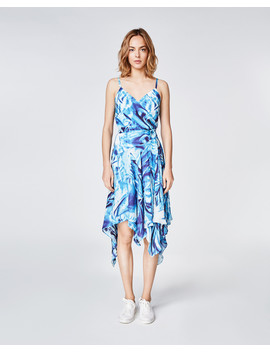 Faux Crush Wrap Dress by Nicole Miller