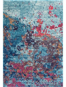 Bosphorus Abstract Splatter Seascape Rug by Rugs Usa