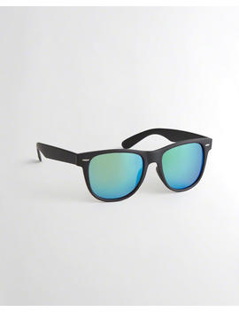 Black Square Sunglasses by Hollister