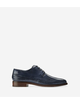 Washington Grand Woven Plain Toe Oxford by Cole Haan