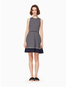 Stripe Ponte Dress by Kate Spade