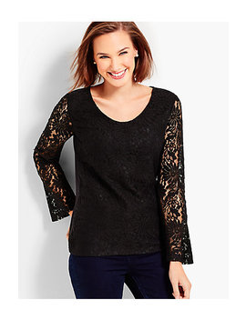 Flounce Sleeve Lace Top by Talbots