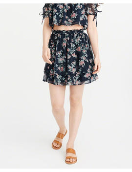 Floral Chiffon Mini Skirt by Abercrombie & Fitch