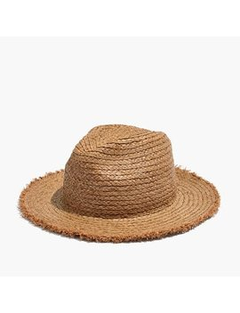 Raw Edged Straw Fedora by Madewell
