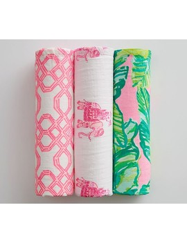 Lilly Pulitzer Organic Muslin Swaddle Set by Pottery Barn Kids
