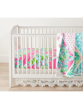 Lilly Pulitzer Party Patchwork Baby Bedding by Pottery Barn Kids