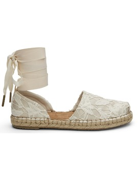 Birch Floral Lace Women's Katalina Espadrilles by Toms