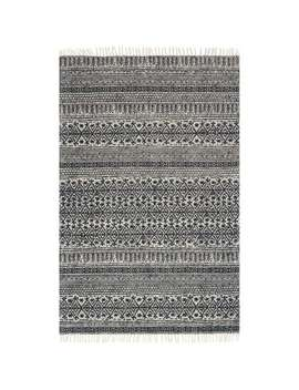 Magnolia Home June Black Striped Rug by Magnolia Home By Joanna Gaines Collection