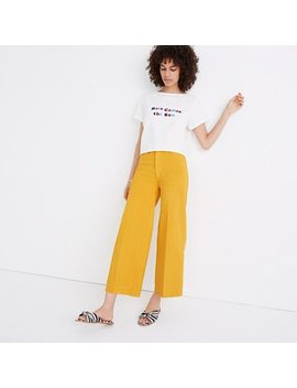 Tall Emmett Wide Leg Crop Pants In Greek Gold by Madewell