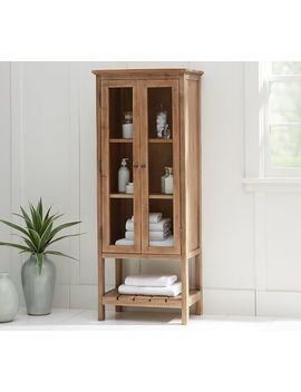 Rustic Wood Linen Closet by Pottery Barn