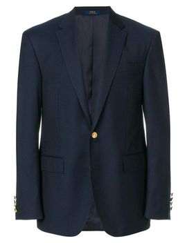 Men's Blue Fitted Formal Blazer by Ralph Lauren