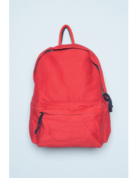 Red And Navy Blue Backpack by Brandy Melville