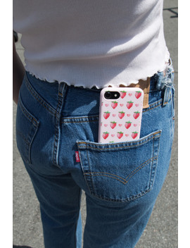 Hearts And Strawberries Phone Case by Brandy Melville