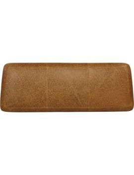 Jarvis King Leather Pad by Crate&Barrel
