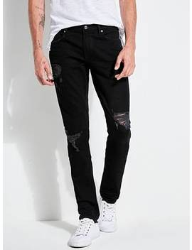 Slim Tapered Destroyed Jeans by Guess