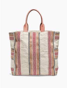 Cotton Stripe Tote by Lucky Brand