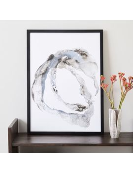 Framed Print   Gray Paint Stroke by West Elm