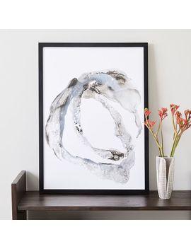 Framed Print   Gray Paint Stroke by West Elm