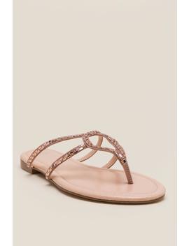 Cleo Embellished Thong Sandal by Francesca's