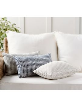 Sunbrella® Dottie Jacquard Indoor/Outdoor Pillow by Pottery Barn