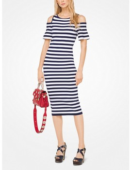 Striped Stretch Viscose Peekaboo Dress by Michael Michael Kors