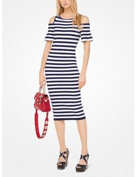 Striped Stretch Viscose Peekaboo Dress by Michael Michael Kors