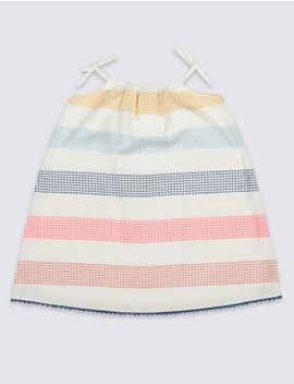 Pure Cotton Dress (3 Months   7 Years) by Marks & Spencer