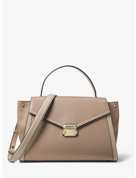Whitney Large Leather Satchel by Michael Michael Kors