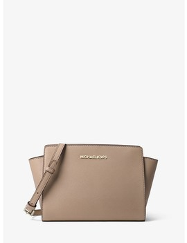 Selma Medium Saffiano Leather Messenger by Michael Michael Kors